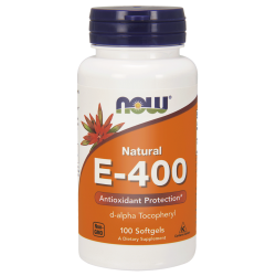 Natural Vitamin E 400IU, 100 capsules