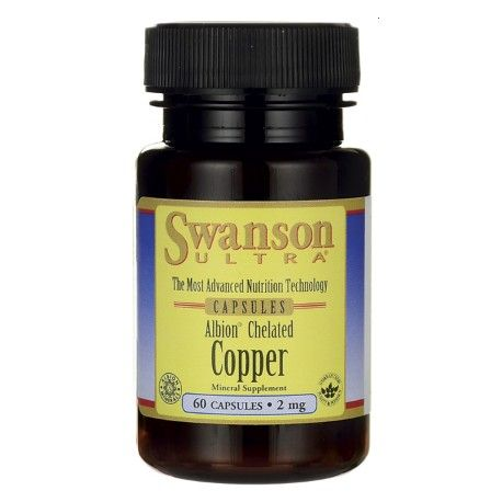 Copper 2 mg, 60 capsules (Swanson)