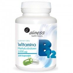 Vitamin B12 Methylcobalamin 1000µg, 100 caps