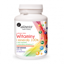 Vitamins and minerals 100%, 120 tablets